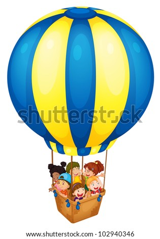 Illustration of a hot air balloon - EPS VECTOR format also available in my portfolio. - stock photo