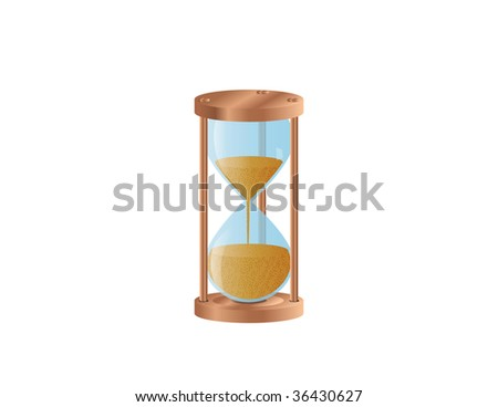 Illustration of a hourglass