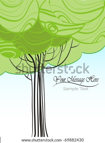 illustration of a nature concept background
