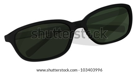 Illustration of a pair of sunglasses - EPS VECTOR format also available in my portfolio.