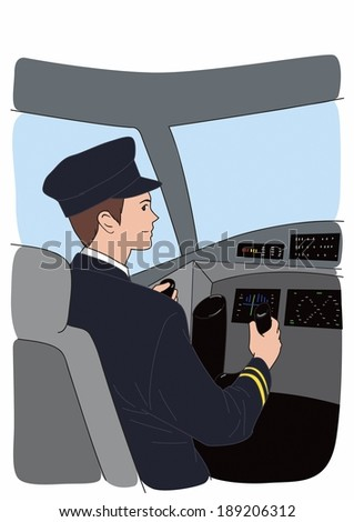 Illustration of a pilot