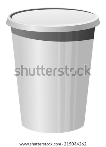illustration of a plastic cup