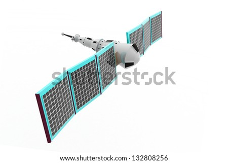 Illustration of a satellite - stock photo
