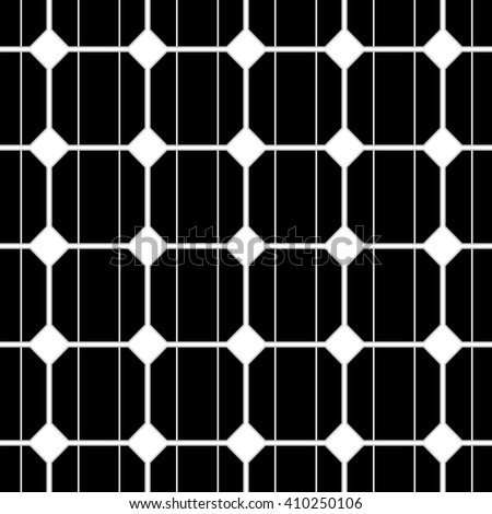 illustration of a seamless photovoltaik solar cell pattern.  - stock photo