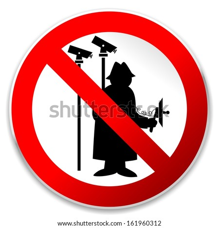 illustration of a sign prohibiting agents and spying