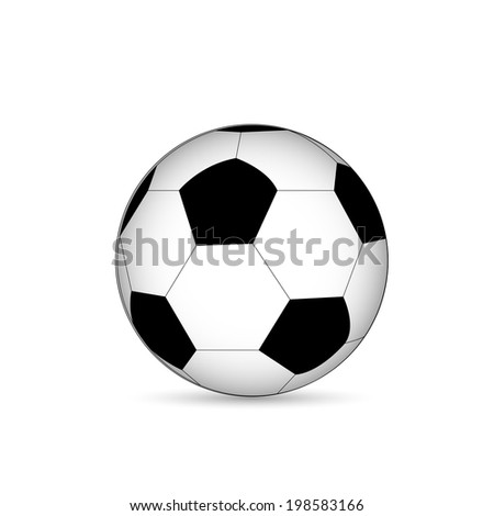 Illustration of a soccer ball isolated on a white background. - stock photo