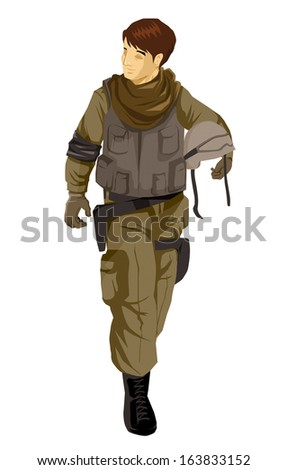 Illustration of a soldier action figure