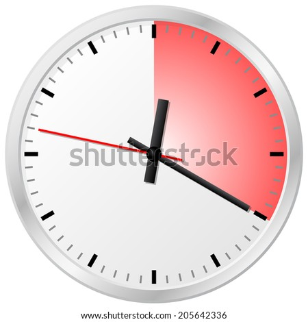illustration of a timer with 20 (twenty) minutes - stock photo