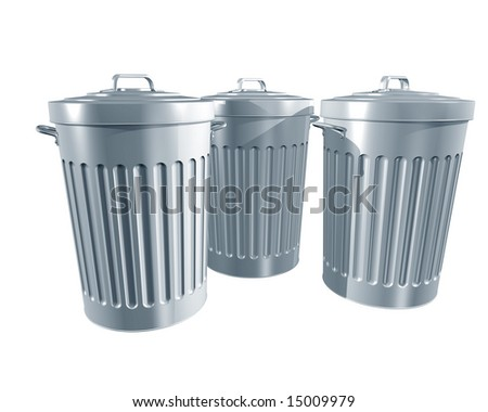Illustration of a traditional trashcans