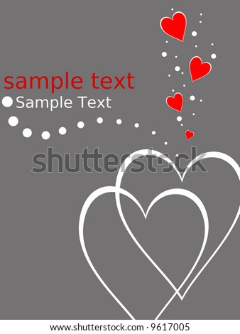 illustration of a valentine day card - stock photo