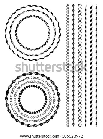 illustration of a vintage ornament. Linear and radial form. - stock photo