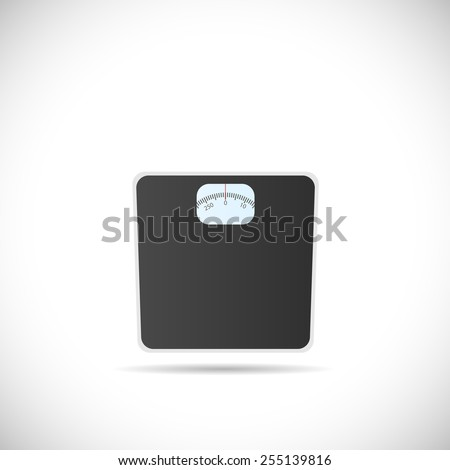 Illustration of a weighing scale isolated on a white background. - stock photo