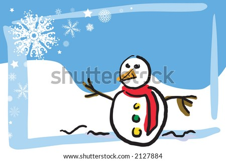 Illustration of a winter scene - stock photo