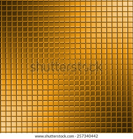 Illustration of abstract gold mosaic textured background - stock photo