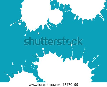 illustration of abstract white blots on blue background.