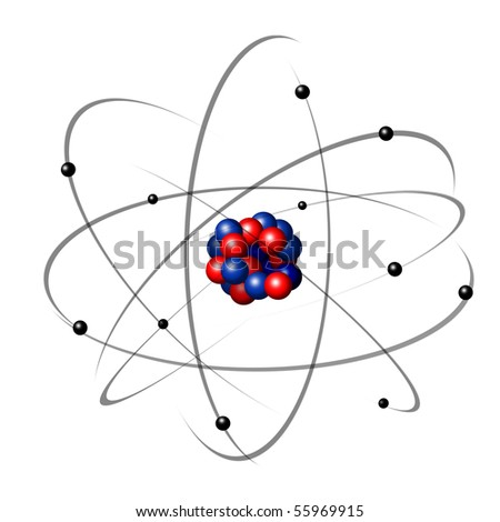 illustration of an atom - stock photo