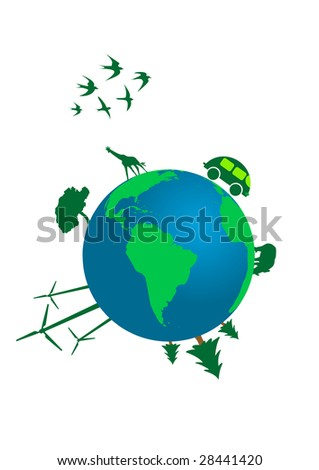 Illustration of an ecological concept of world