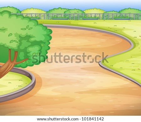 Illustration of an empty schoolyard - EPS VECTOR format also available in my portfolio.