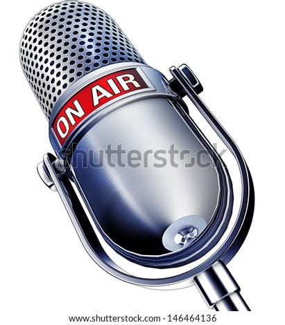 illustration of an microphone - stock photo