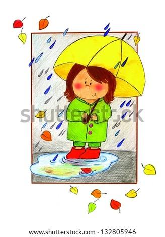 Illustration of an umbrella - stock photo