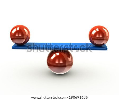 Illustration of balance and harmony - stock photo