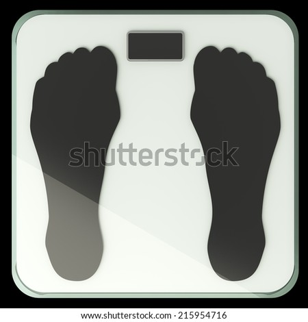 illustration of bathroom weight scale. iisolated on black background. 3d - stock photo