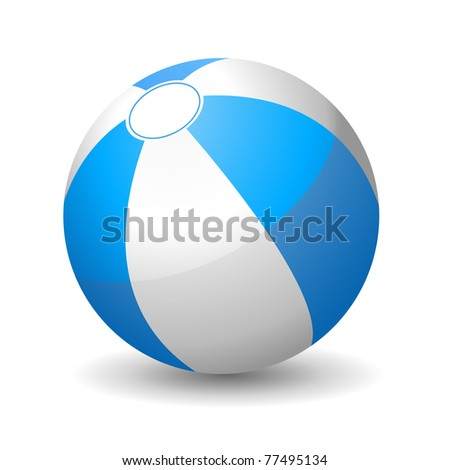 Illustration of beach ball