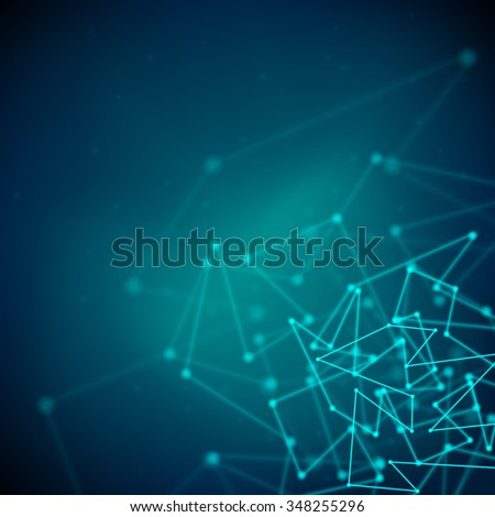 Illustration of black and blue abstract geometric background