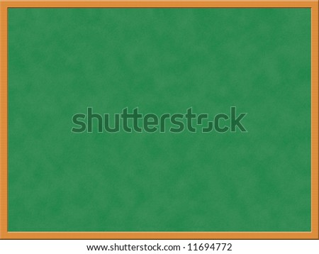 Illustration of blank chalkboard, education concept - stock photo
