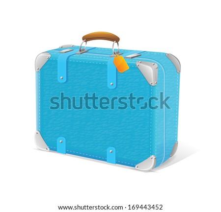 illustration of blue trawel suitcase - stock photo