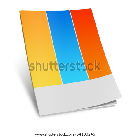 Illustration of  book on white background - stock photo