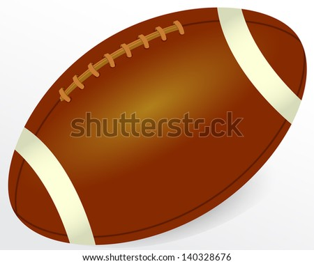 Illustration of brown rugby ball - stock photo