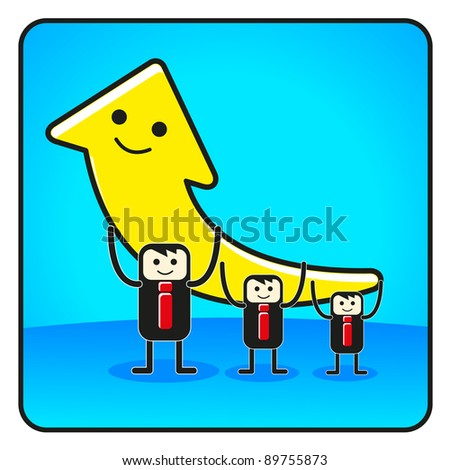 illustration of business icon - stock photo