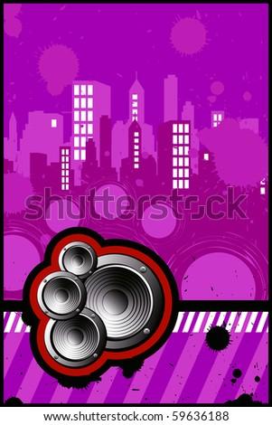 illustration of city music - stock photo