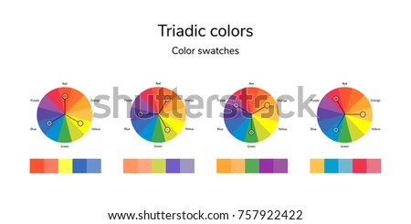 Illustration Of Color Circle Infographics Palette Triadic Swatches