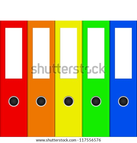 illustration of colorful binders - stock photo