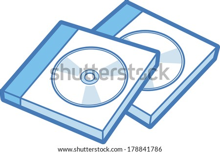 Illustration of compact disk case