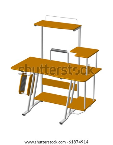 illustration of computer table