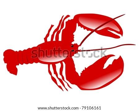 Illustration of crayfish - stock photo