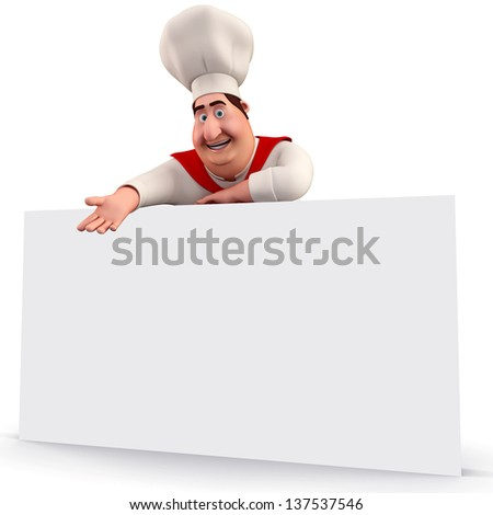 illustration of cute kitchen chef