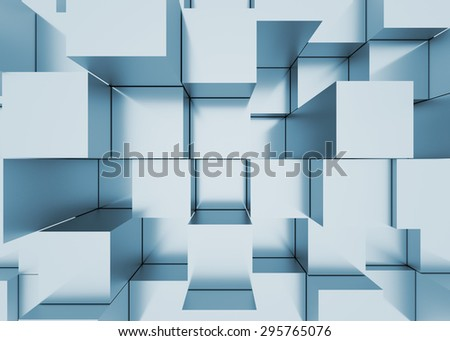 Illustration of 3d abstract mosaic three-dimensional background  - stock photo