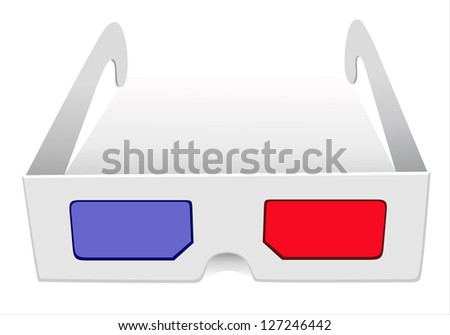 illustration of 3d glasses on white background - stock photo