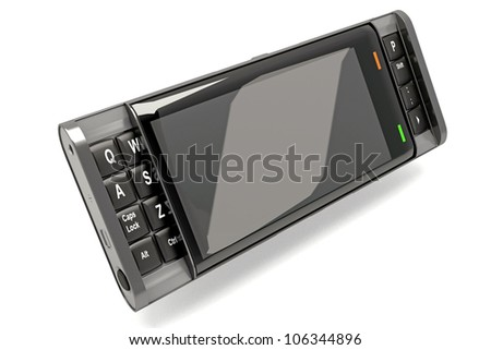 illustration of 3d image of smartphone against white background