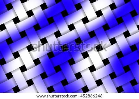 Illustration of dark blue and white weaved pattern - stock photo