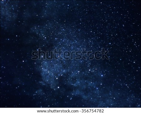 Illustration of deep space rich in stars - stock photo