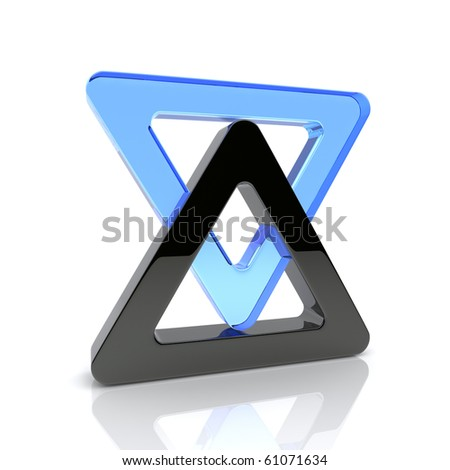 Illustration of design element with triangles - stock photo