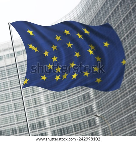 Illustration of diversity and contradictions in the European Union - stock photo