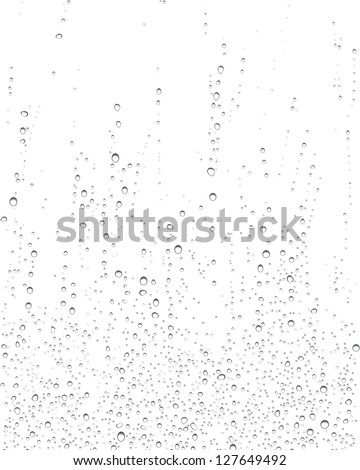 Illustration of drops of rain on windows - stock photo