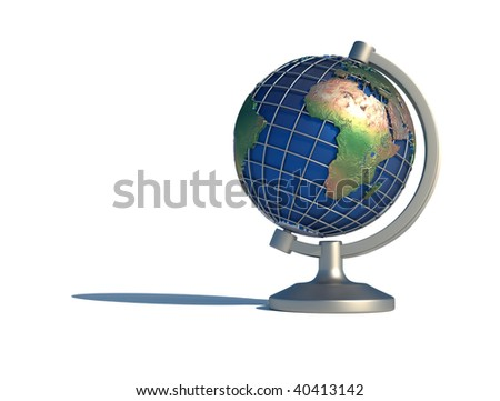 Illustration of Earth globe showing Africa - 3d render