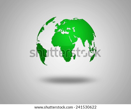 illustration of Earth isolated on light background. abstract green planet earth image - stock photo